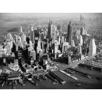 Aerial View of Downtown Manhattan - New