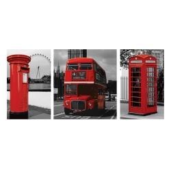 London (Red Triptych)