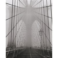 Foggy Day on Brooklyn Bridge