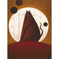 Cat and the Moon I